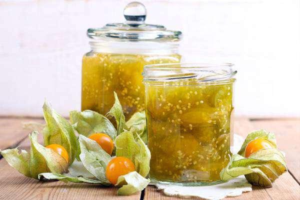 Имбирное варенье из физалиса с лимоном и апельсинами